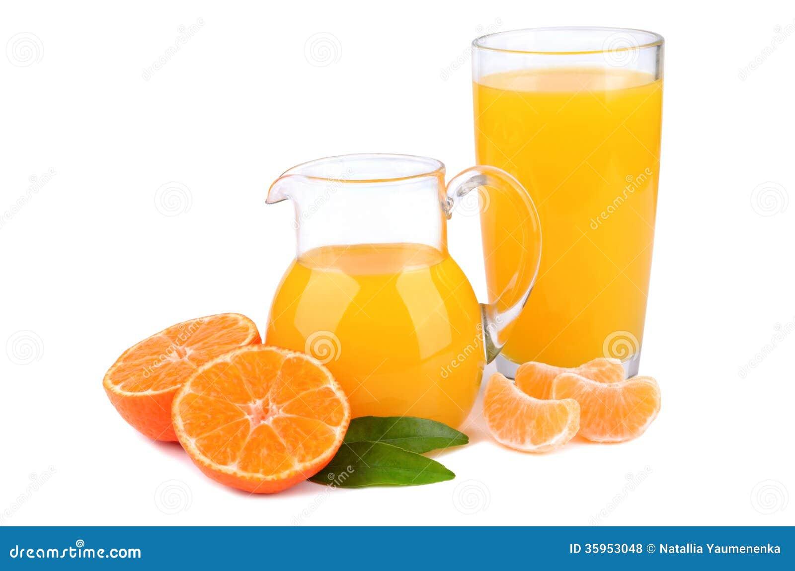 Mandarinas y jugo
