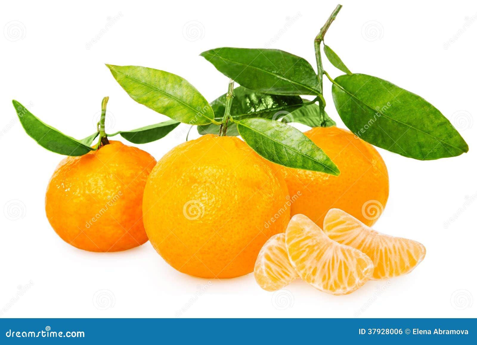 Mandarine avec des segments