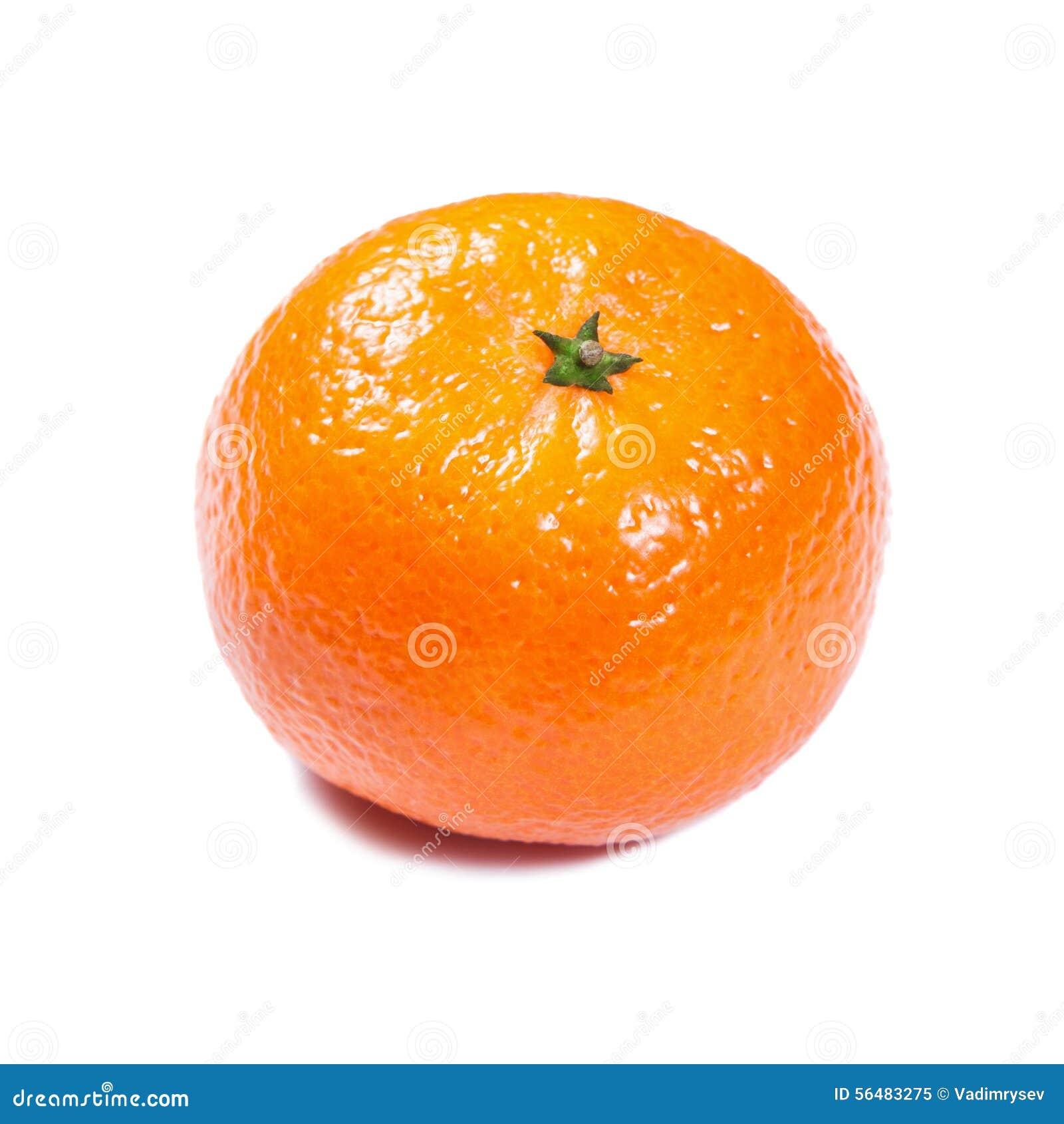 Mandarine d isolement sur le blanc