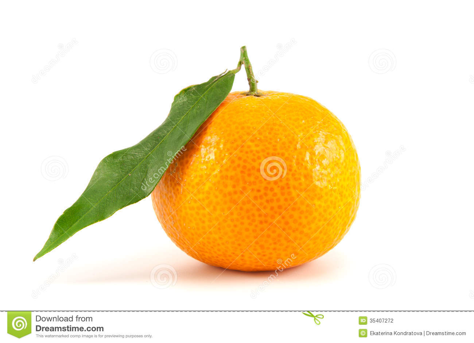 mandarine orange avec la feuille photo stock image du fruits centrales 35407272. Black Bedroom Furniture Sets. Home Design Ideas