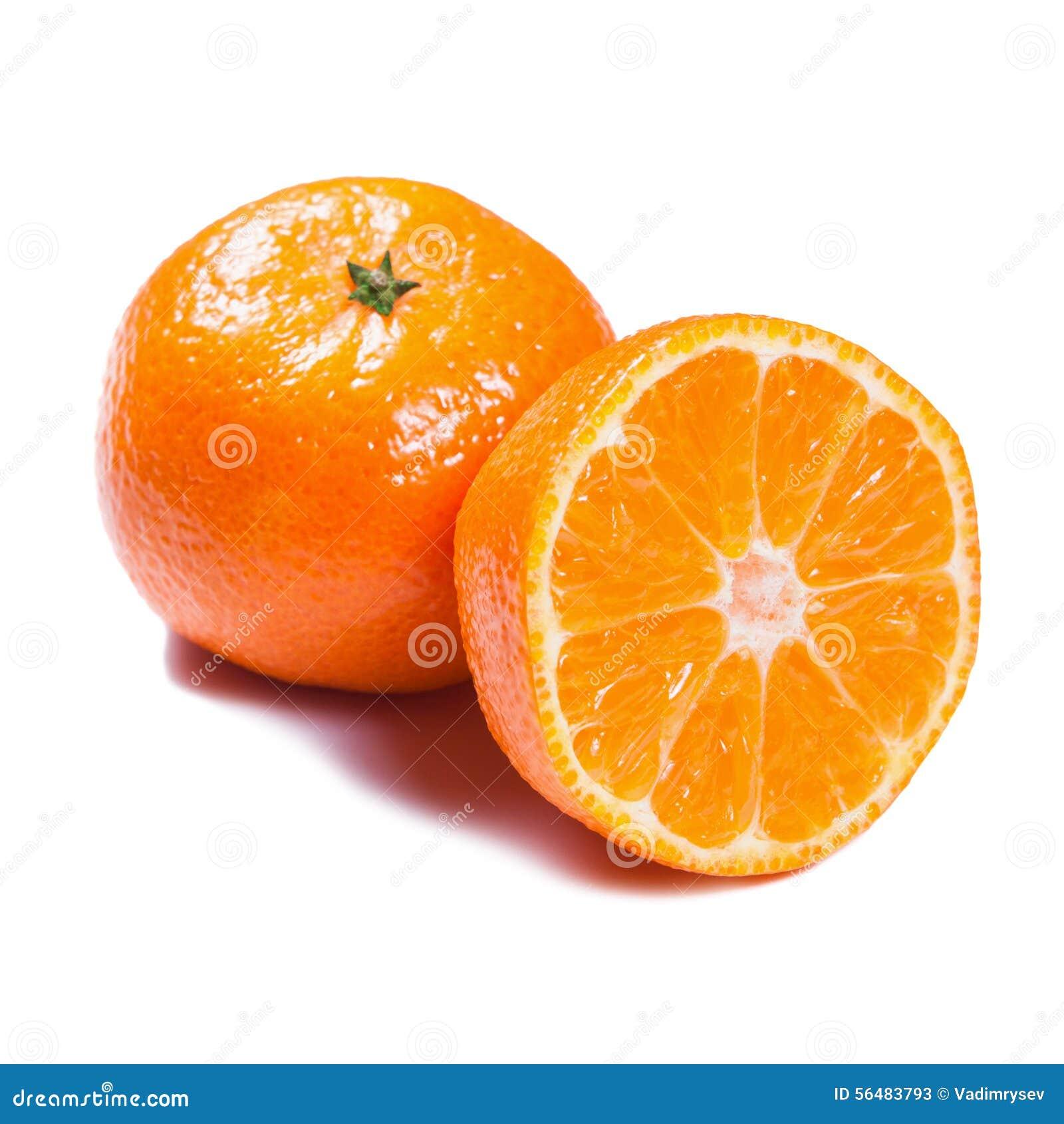 Mandarines d isolement sur le blanc
