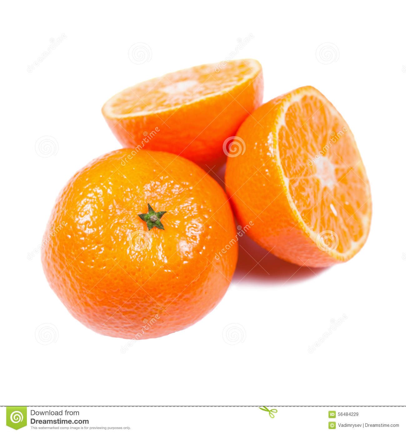 Mandarines d isolement sur le blanc