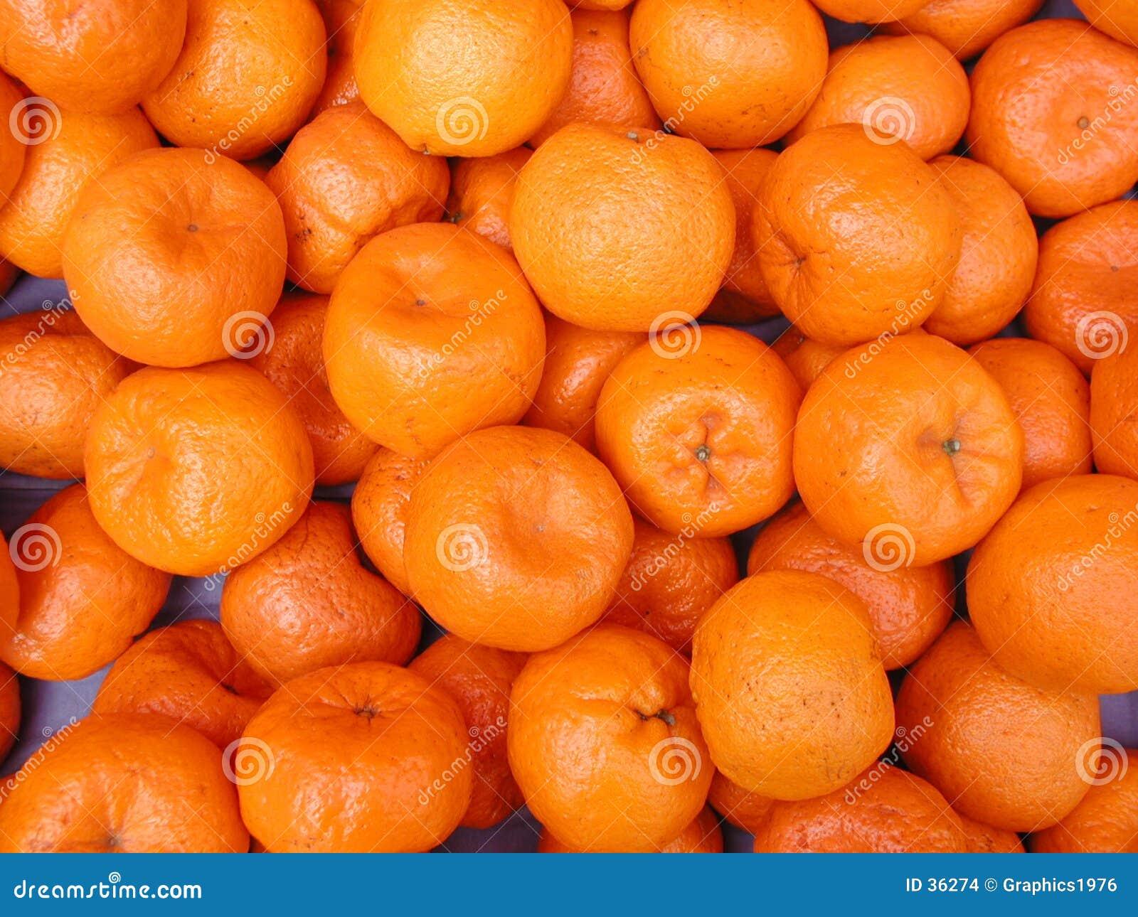 Mandarines - fond de fruit