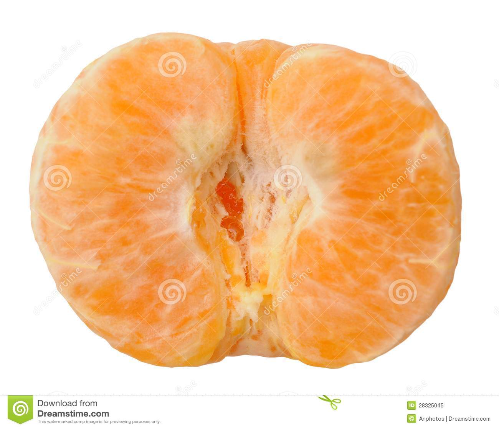 Mandarino sbucciato