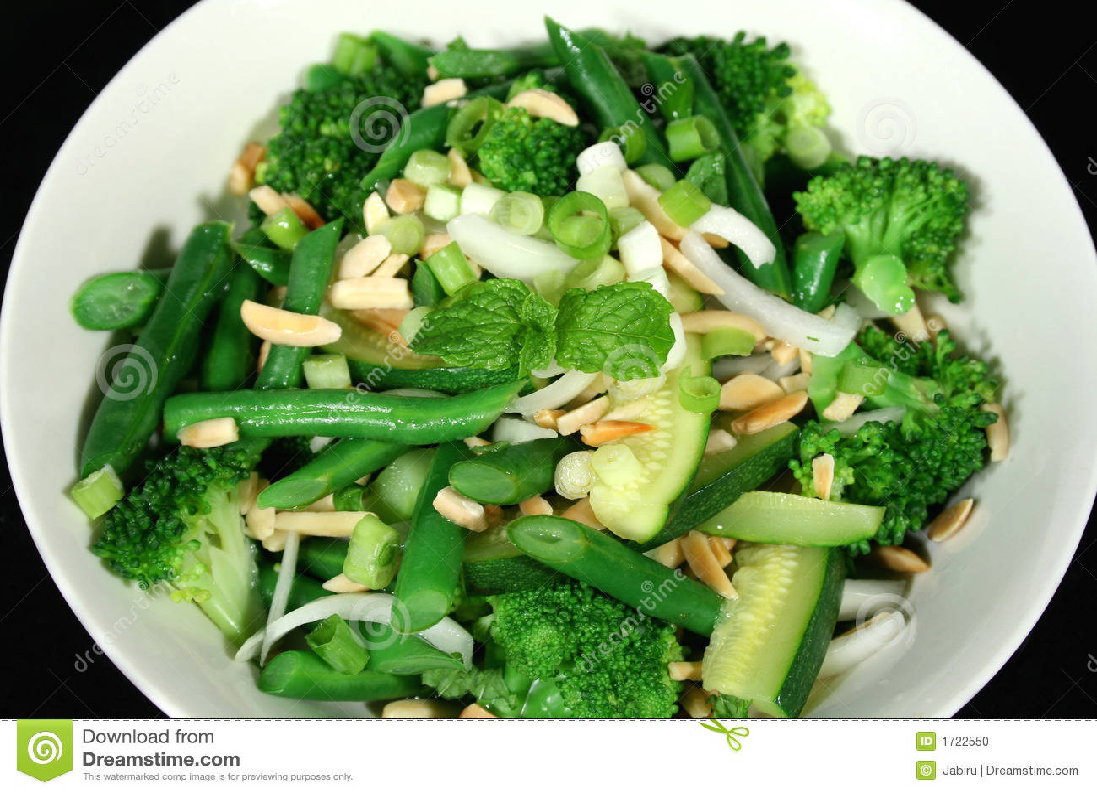 Mandelar 1 green grönsaker