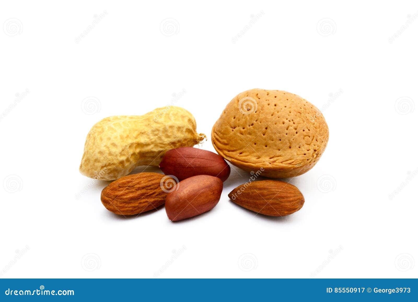 Mandeln und Erdnüsse