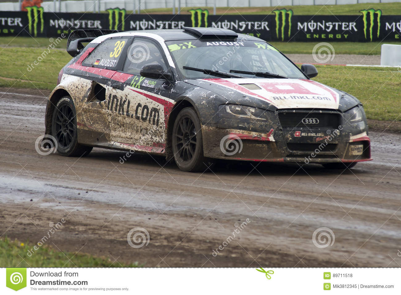 mandie august barcelona fia world rallycross photo stock ditorial image du racetrack session. Black Bedroom Furniture Sets. Home Design Ideas