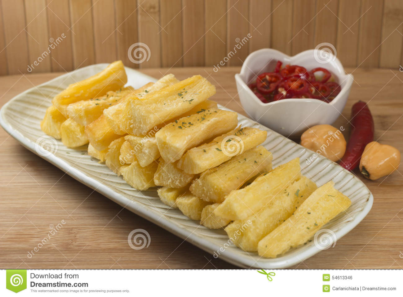 Mandioca stock photo image 54613346 for Authentic brazilian cuisine