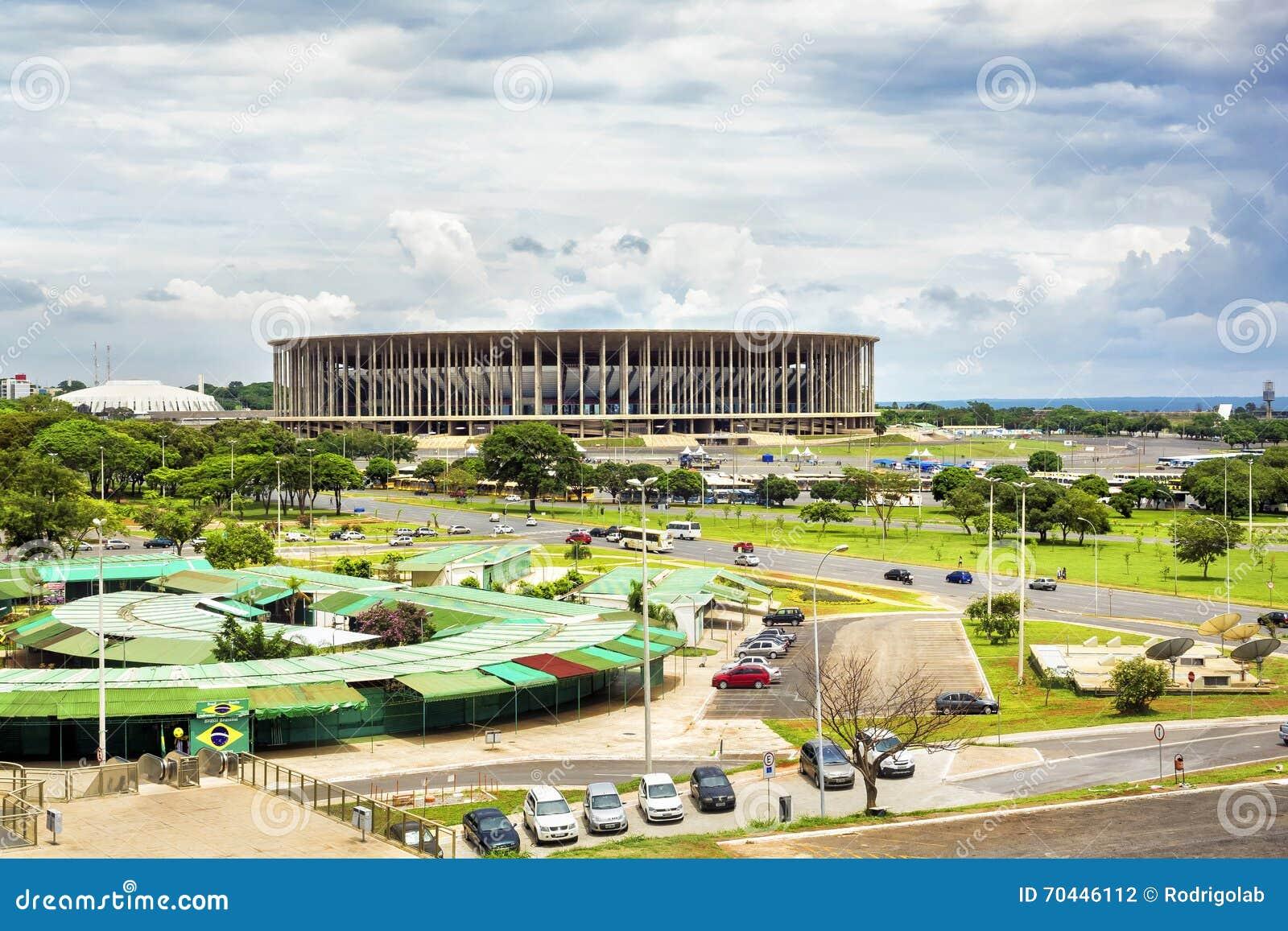 Mane Garrincha Stadium In Brasilia Hoofdstad Van Brazili