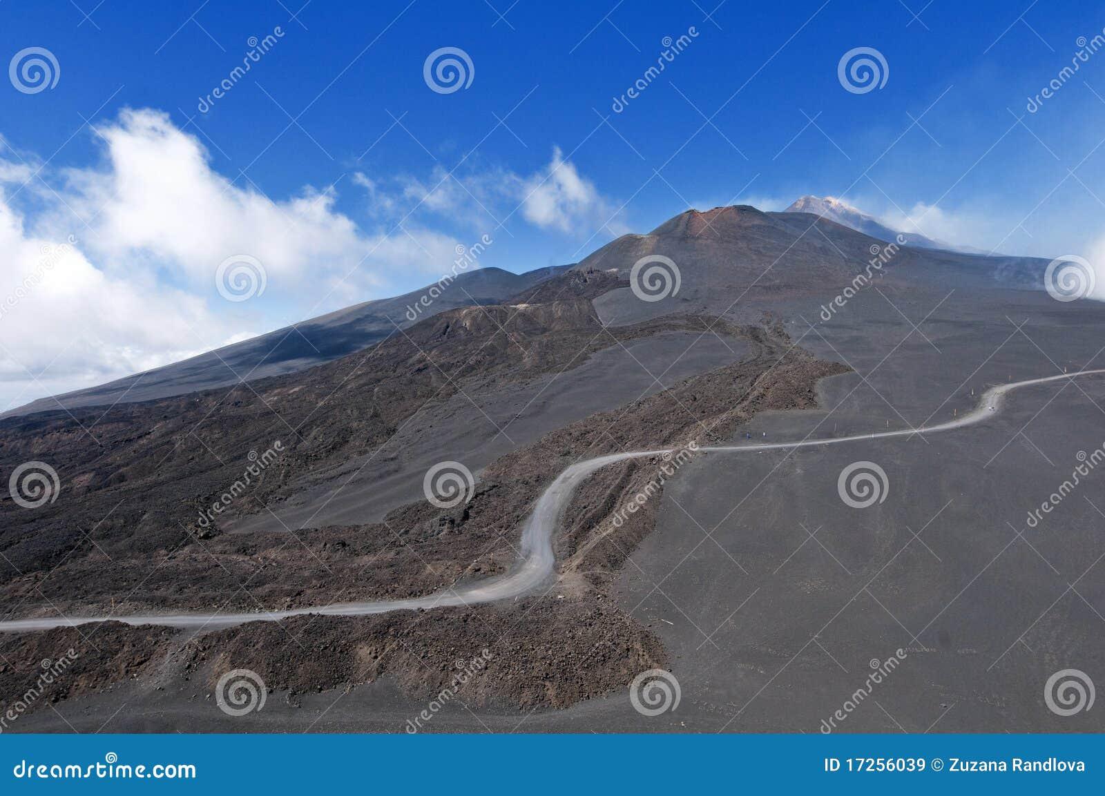 Maneira à parte superior da montagem Etna