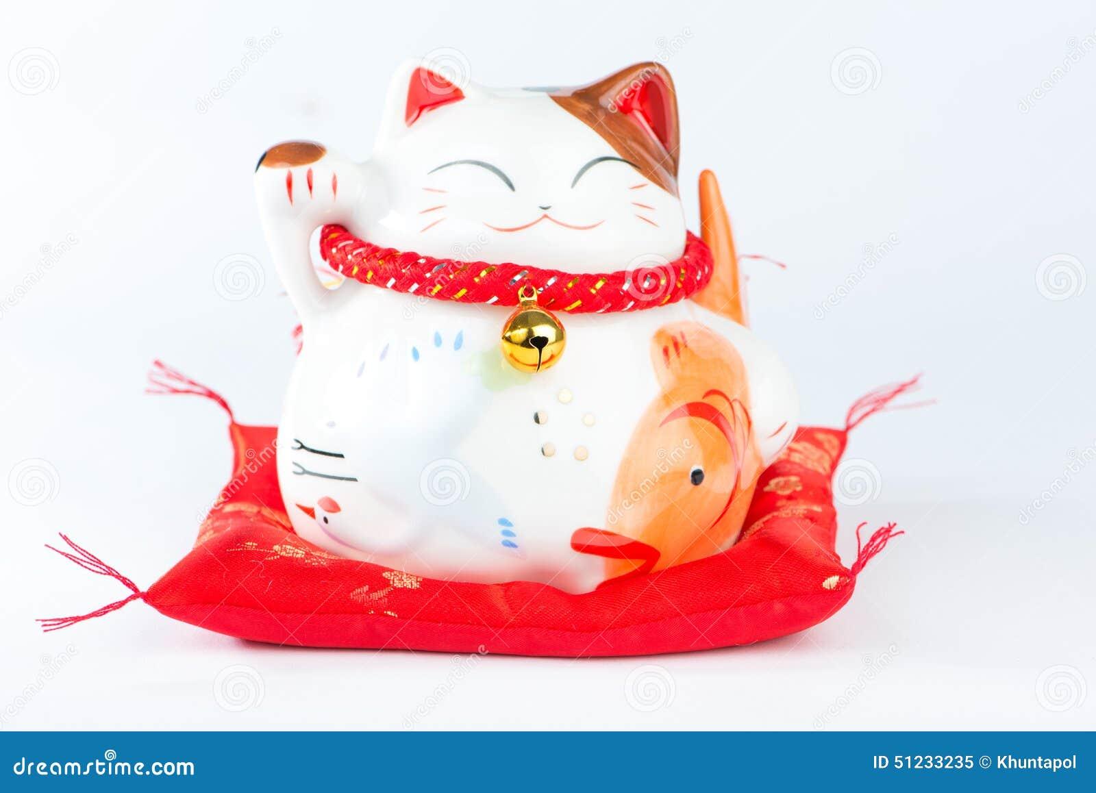 Maneki Neko is Japanese Welcoming Lucky and Money cat