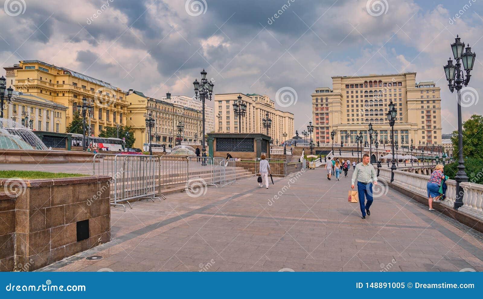 Manezhnaya广场、杜马和四个季节旅馆,莫斯科,俄罗斯