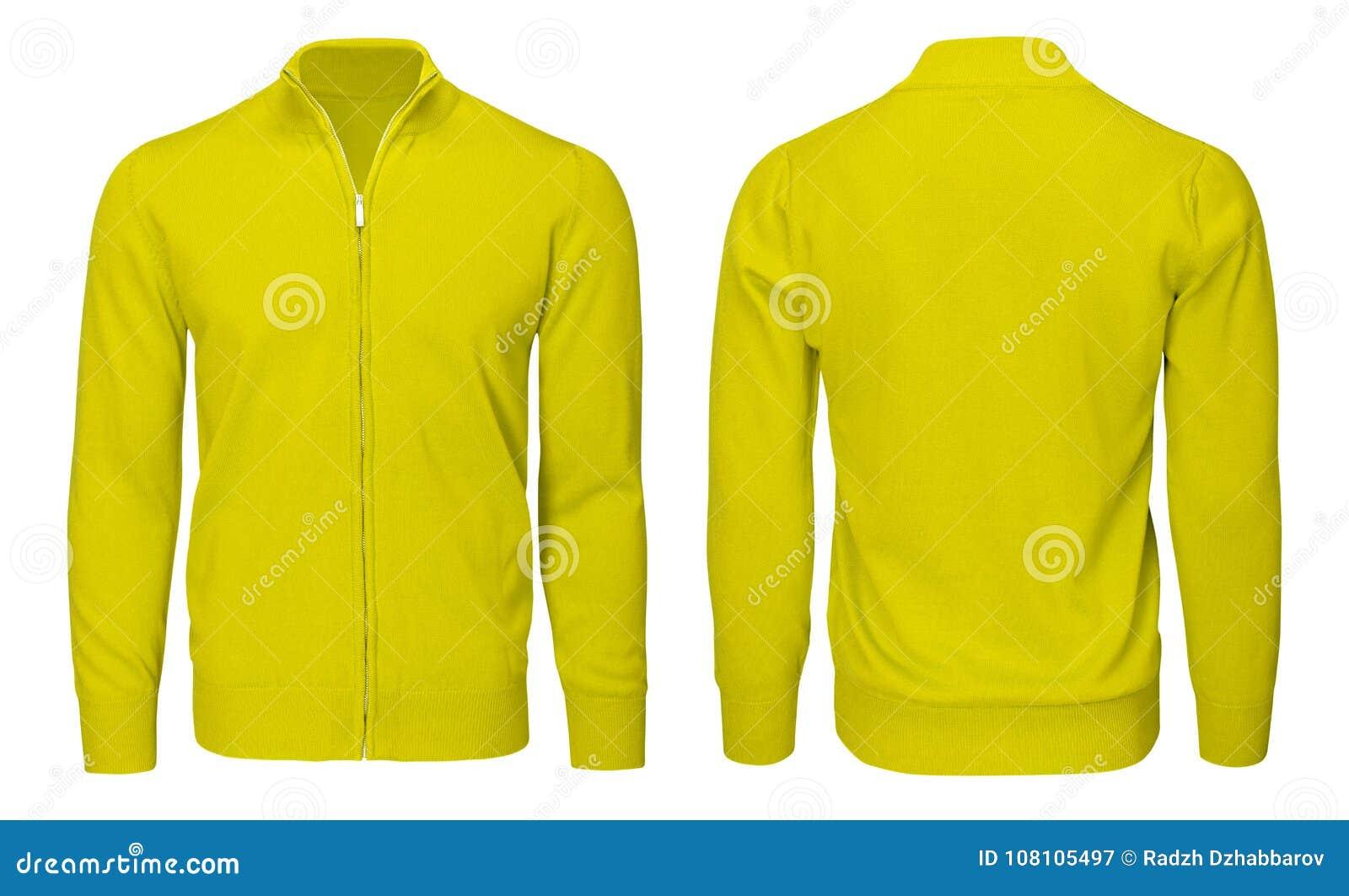 Hombre En La Para Larga Manga De Camiseta Amarilla Blanco UzMSVp