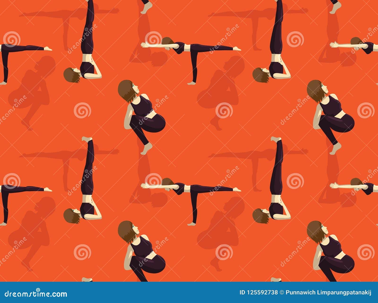 Manga Yoga Noose Pose Background Seamless Wallpaper