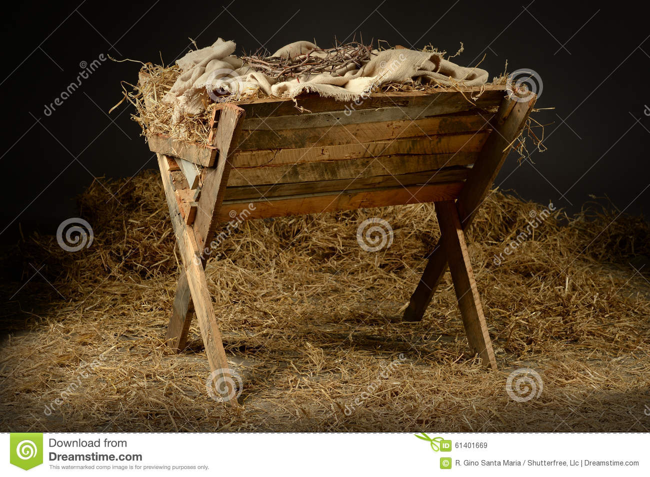 Manger With Crown Of Thorns Stock Image