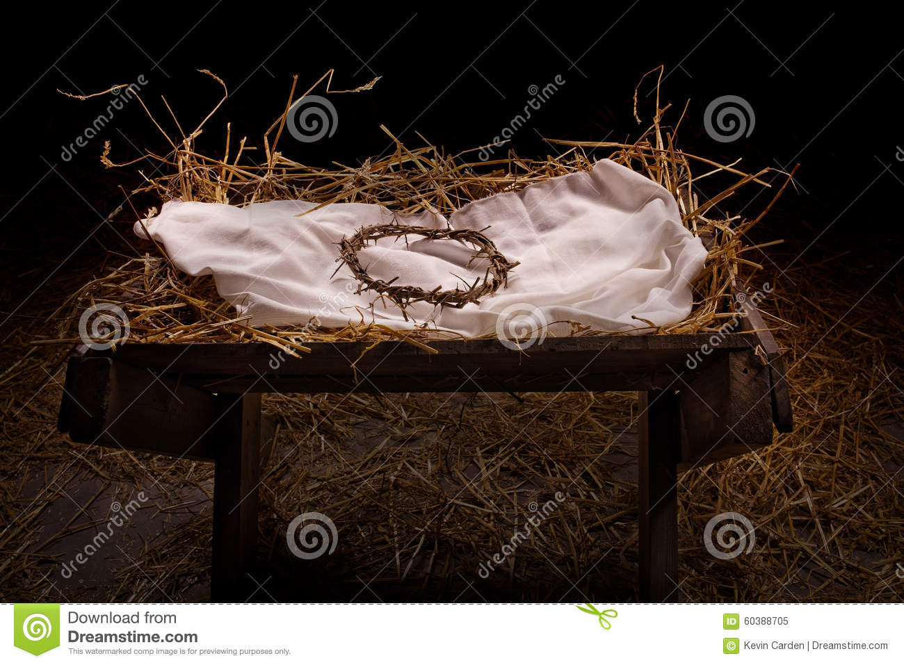 Manger And Crown Stock Image Image Of Nativity Jesus