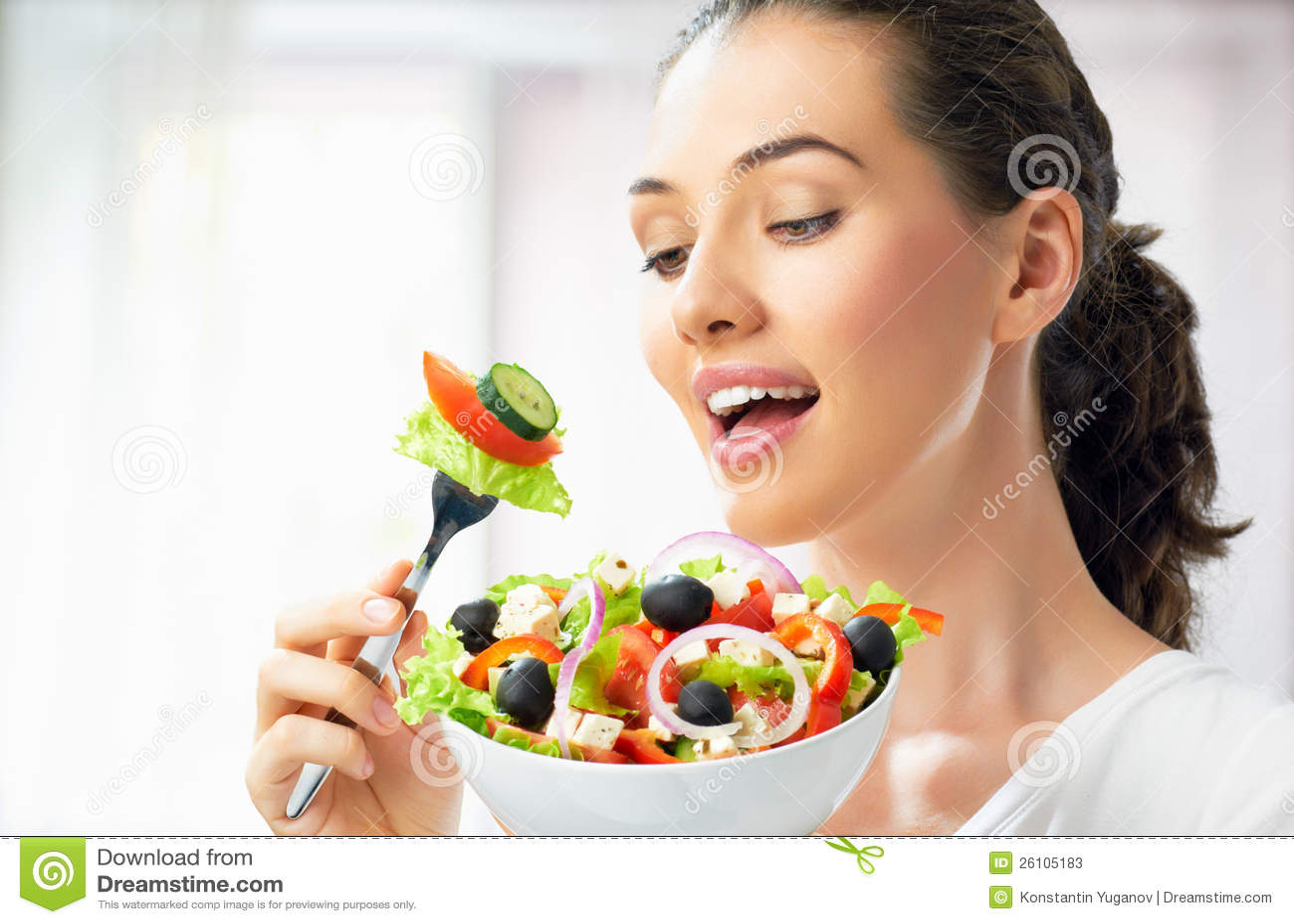 Manger de la nourriture saine