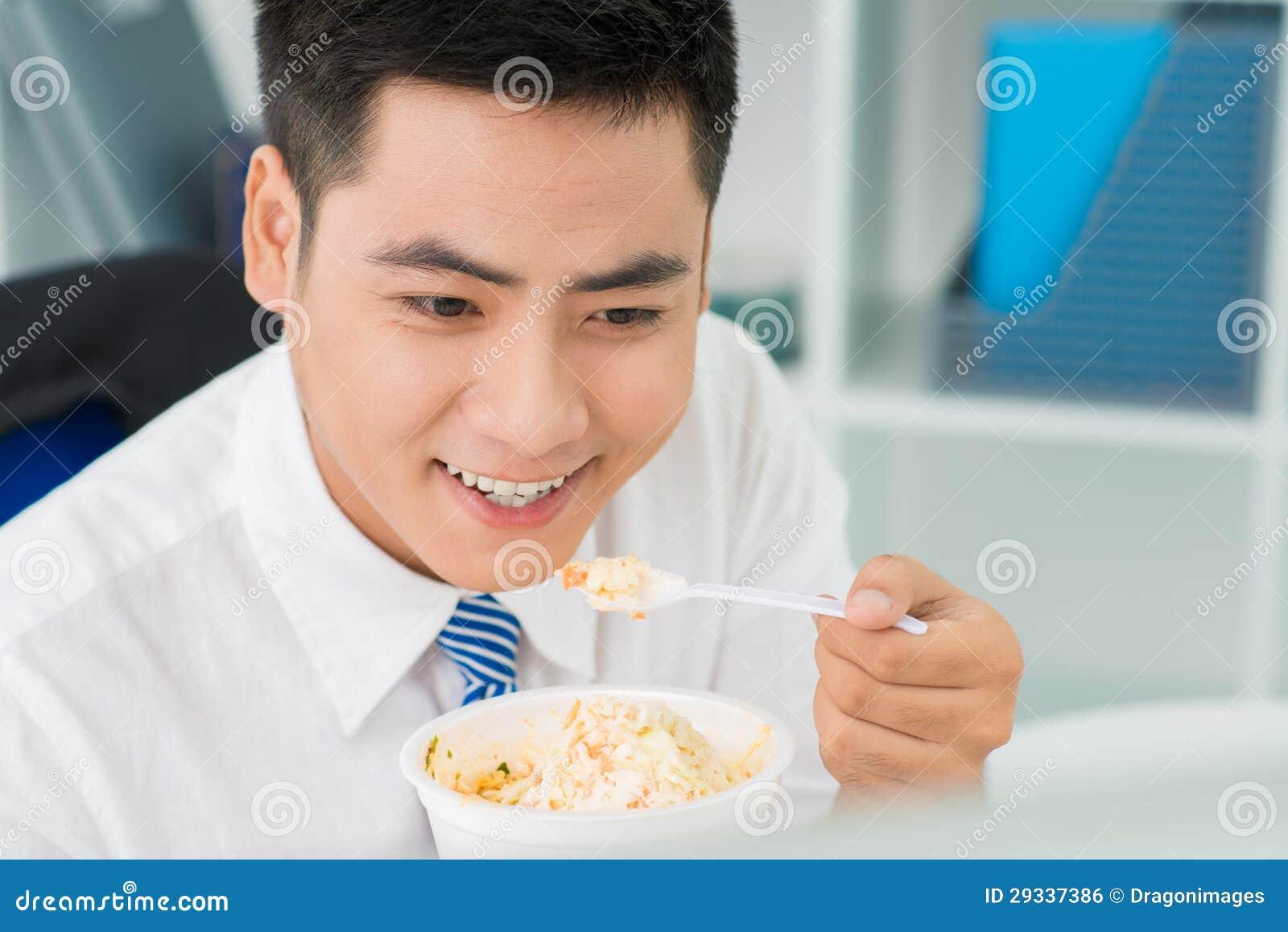 Mangeur heureux