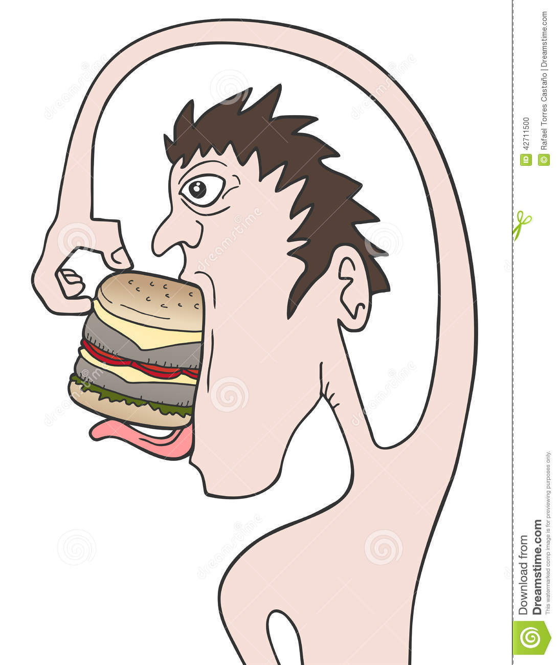 Mangez l hamburger