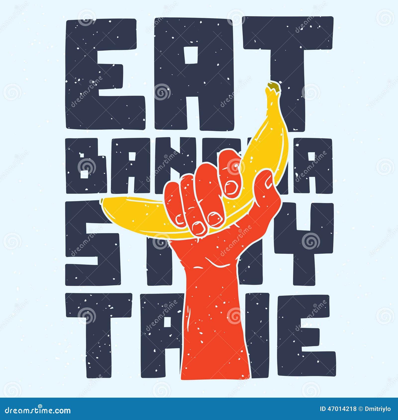 Mangez le séjour de banane vrai