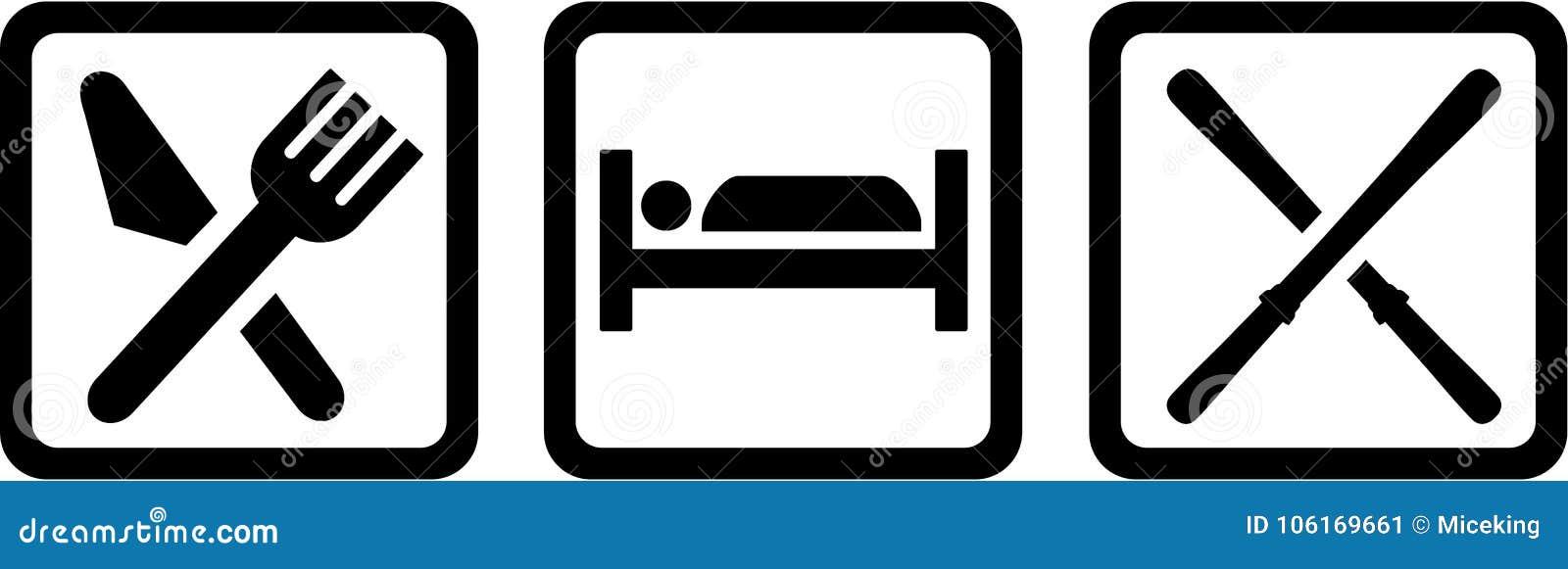 Mangez le skieur de sommeil