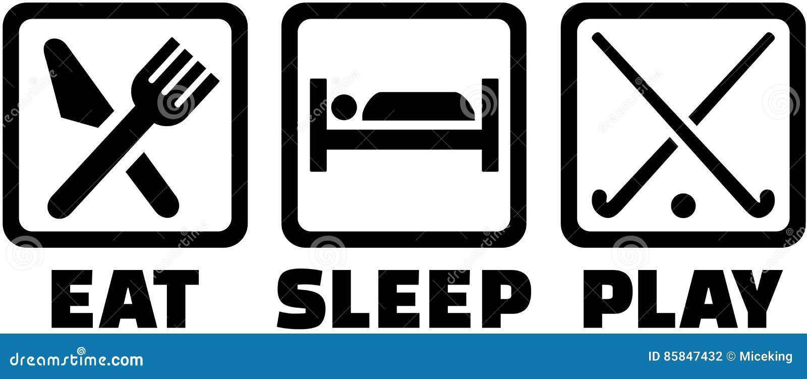 Mangez le sommeil et jouez à l hockey de champ