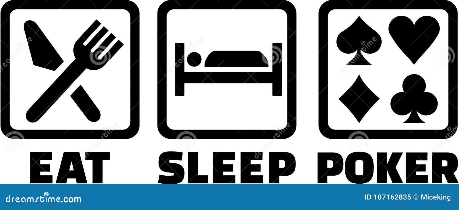 Mangez les icônes de tisonnier de sommeil