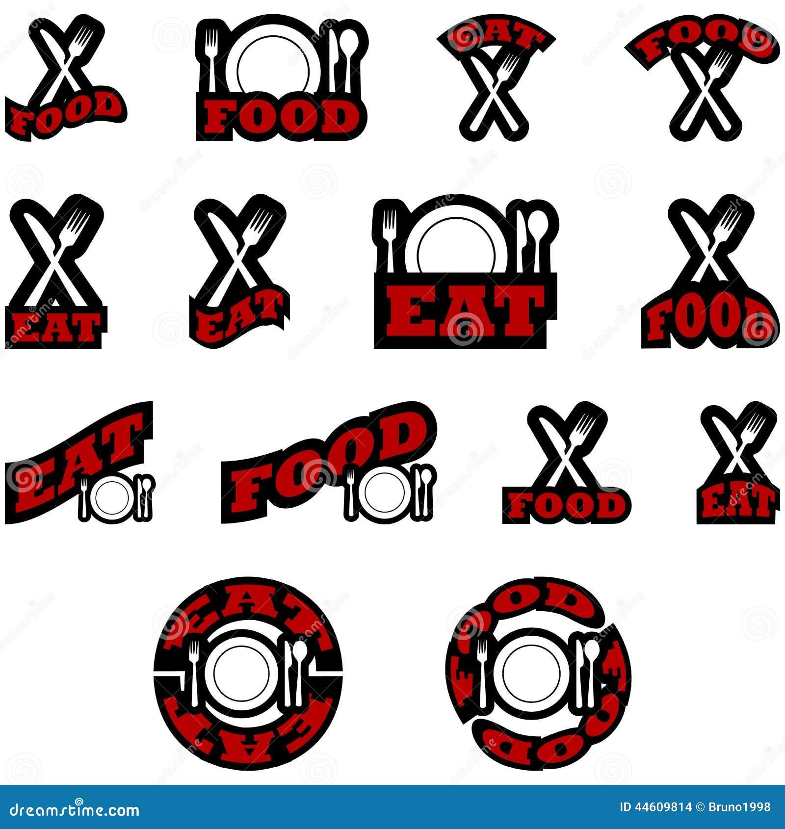 Mangez les icônes de nourriture