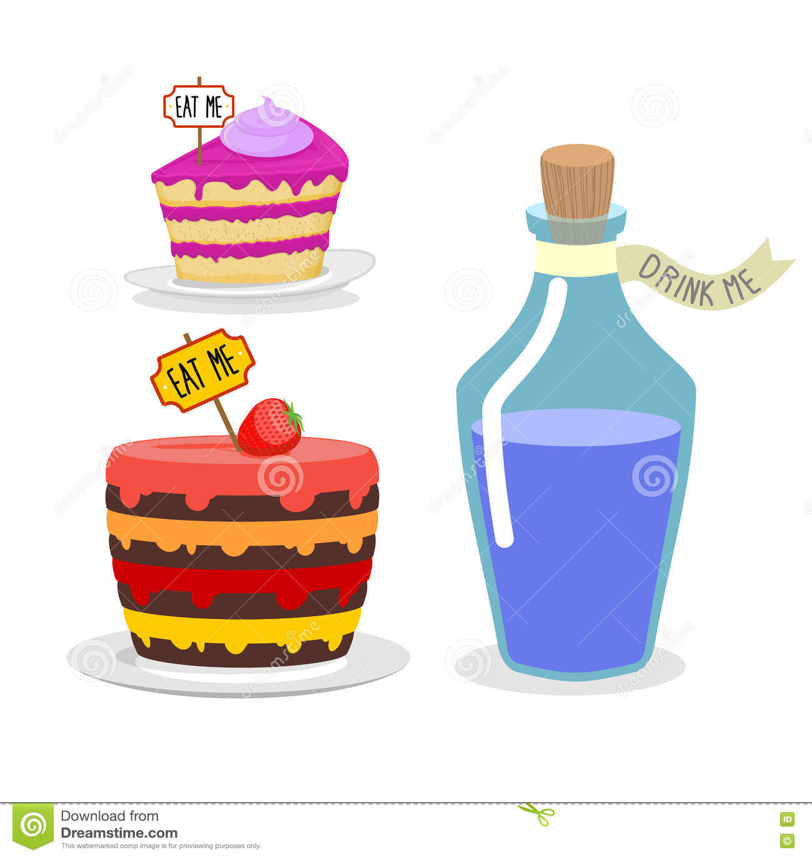 Gateau Alice Aux Pays Des Merveilles se rapportant à mangez-moi gâteau buvez-moi breuvage magique placez le repas pour