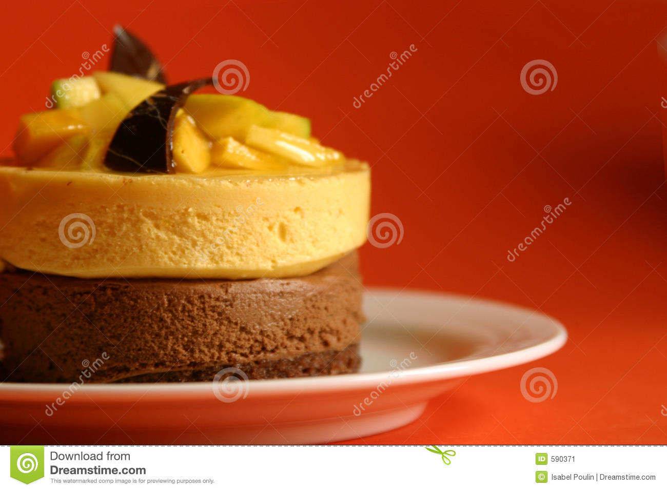 Mango and chocolate mousse