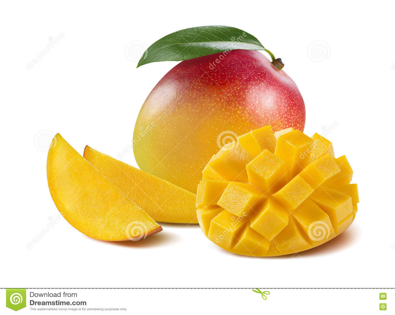 Mangoposition Cut Piece Slice On White Background Stock Photo Mango Bravo