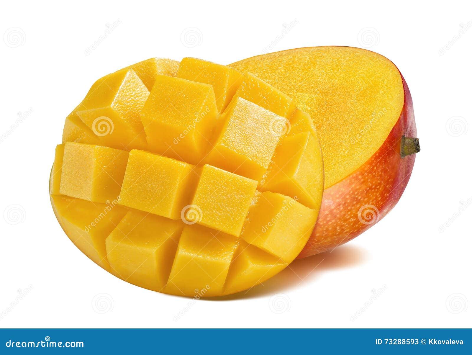 Mangoposition Cut Piece Slice On White Background Stock Photo Mini Mango  Bravo Php495
