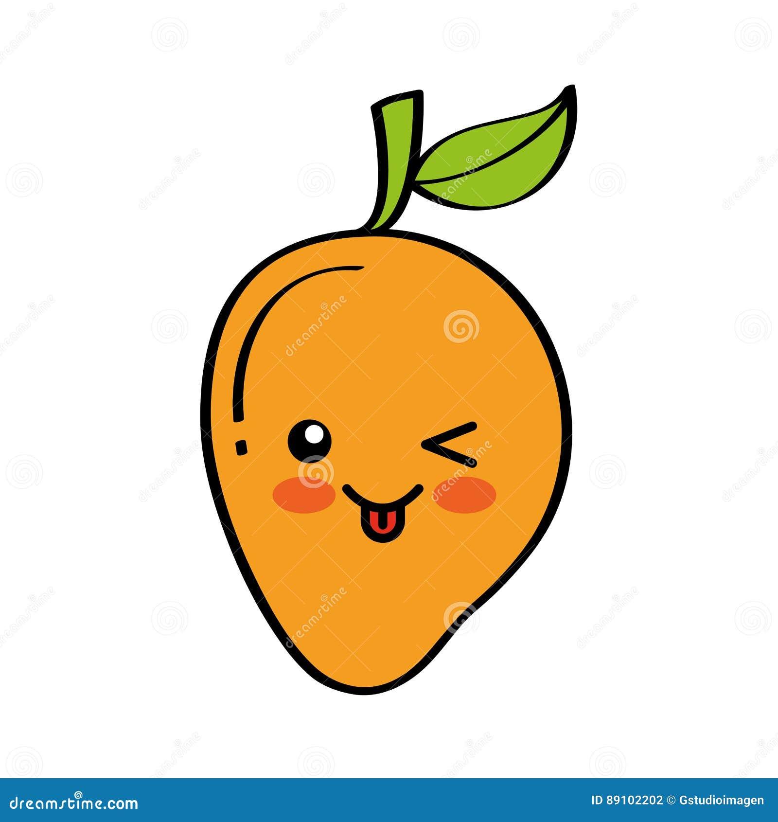 Vector Character Design Illustrator : Mango fresh fruit comic character stock vector image