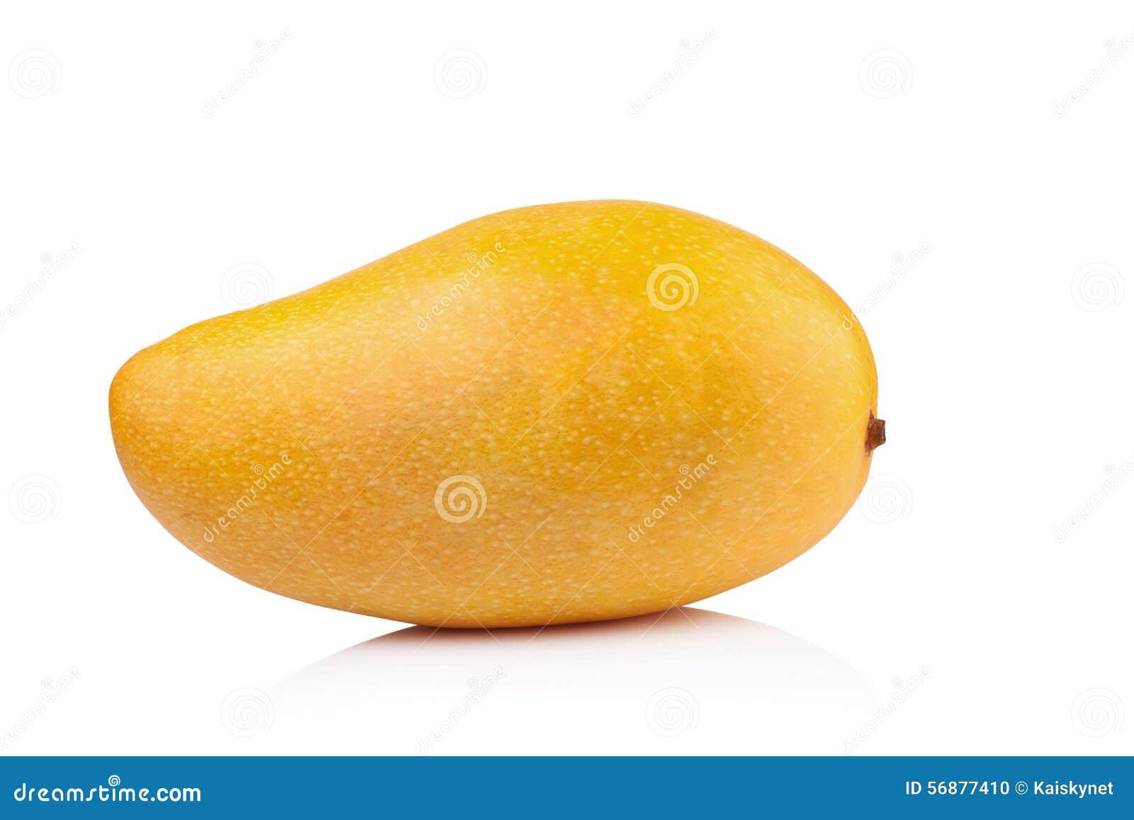 Mango giallo isolato su fondo bianco