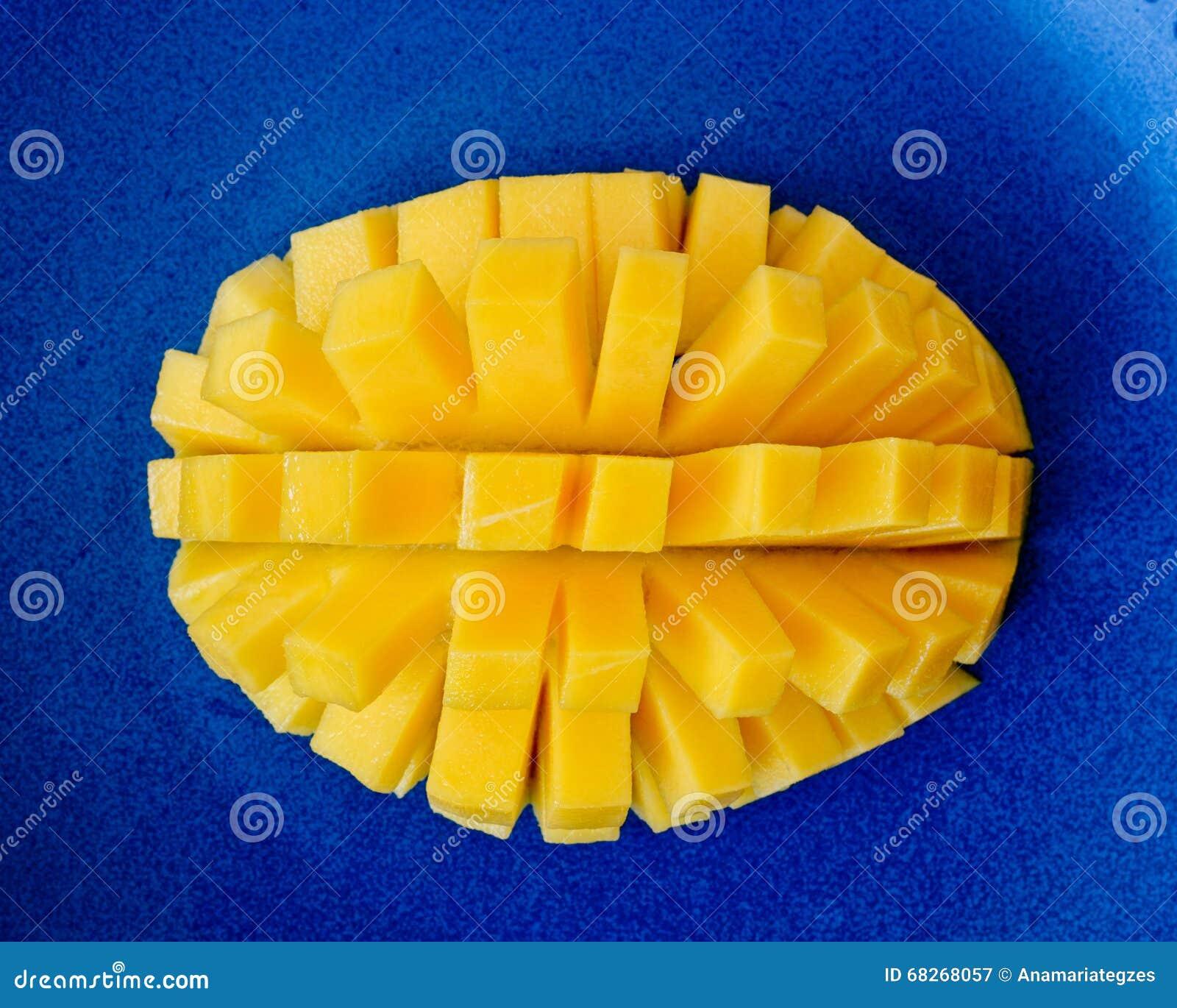 Mango hedgehog cut stock image image of white plate 68268057 mango hedgehog cut ccuart Choice Image