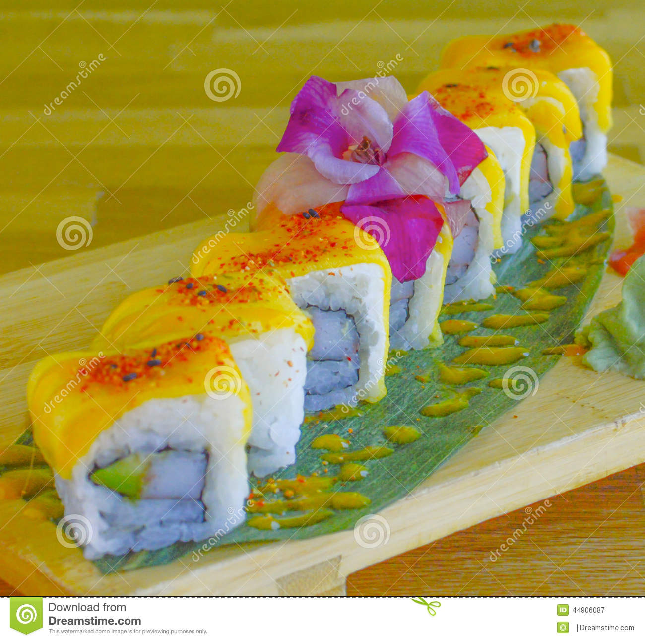 Mango Sushi Roll Stock Photo - Image: 44906087