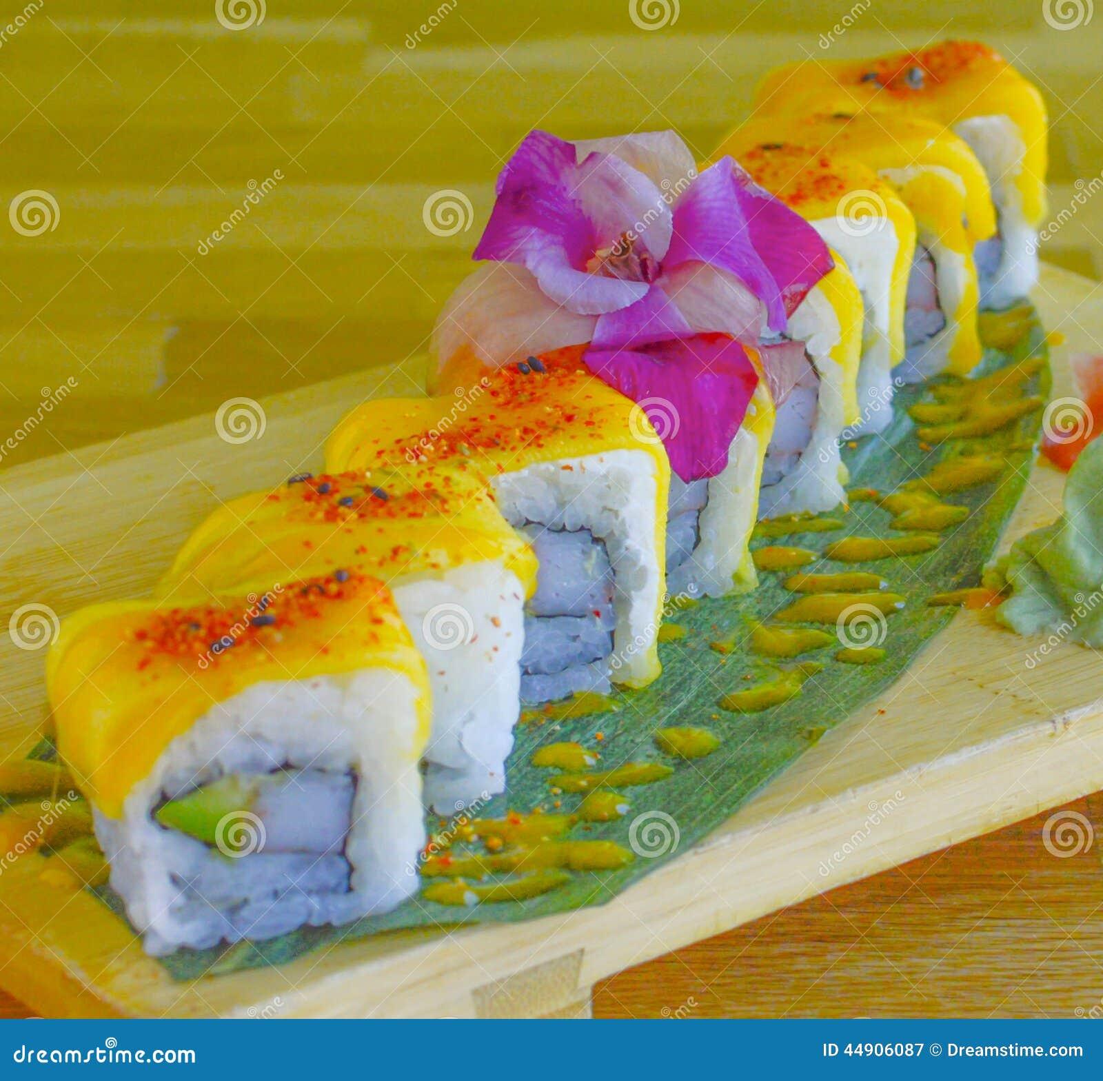 Mango Sushi Roll Stock Photo - Image: 44906087
