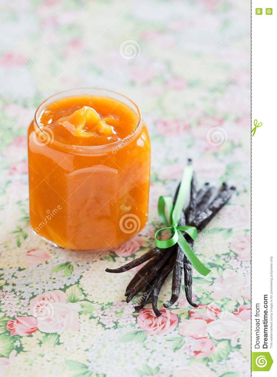 Mango And Vanilla Jam Royalty Free Stock Photography - Image: 23038297