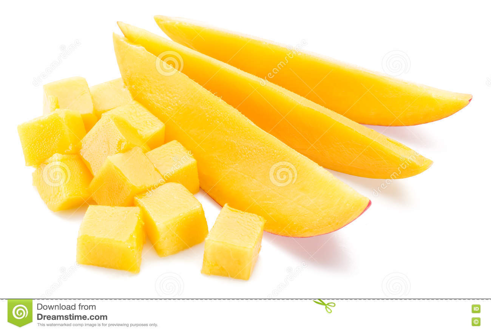 Mangokuber och skivor kvast isolerad white