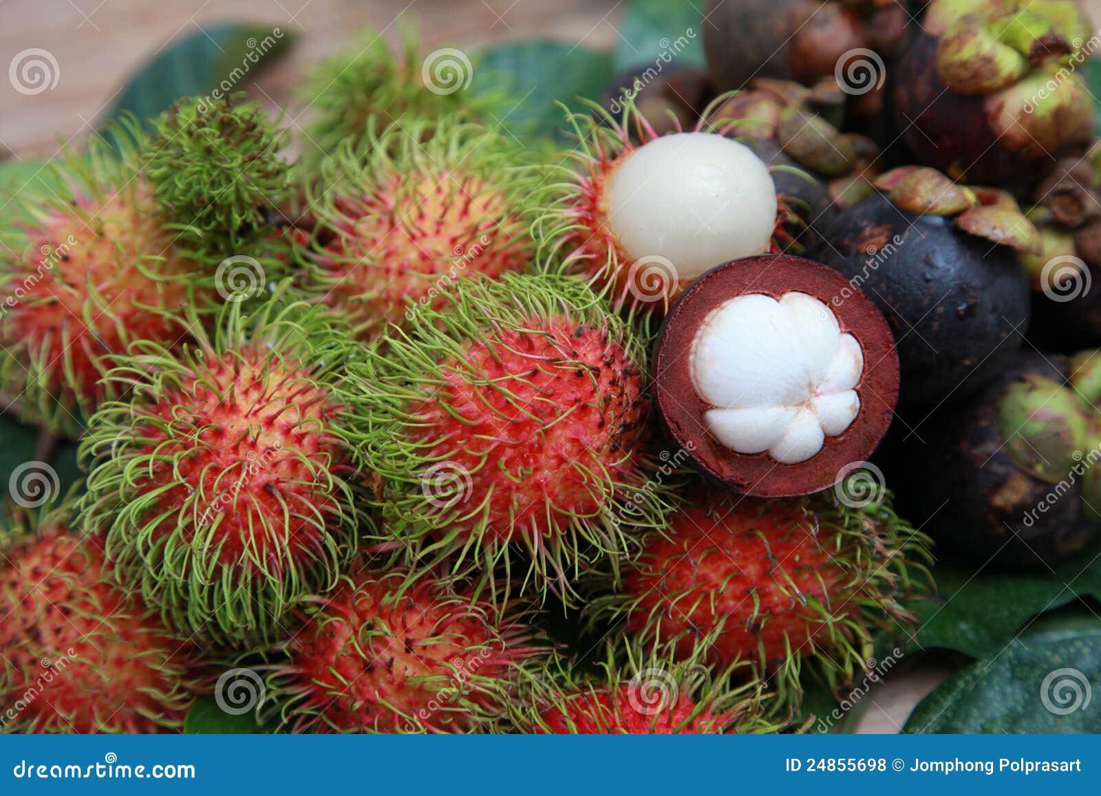 Mangosteen And Rambutan Royalty Free Stock Photos Image