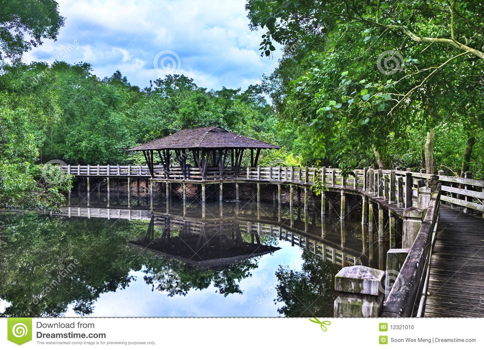 Mangrove Arboretum Shelter, Sungei Buloh Singapore