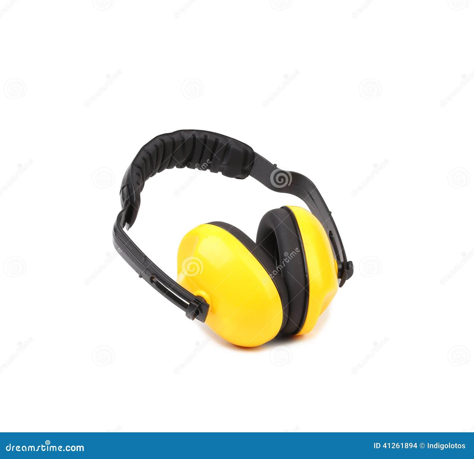 Manguitos protectores amarillos del oído