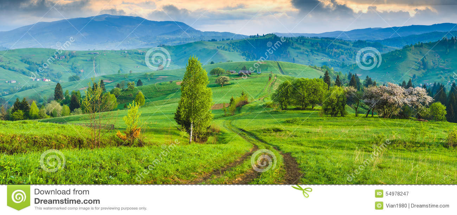 Manhã Carpathian majestosa