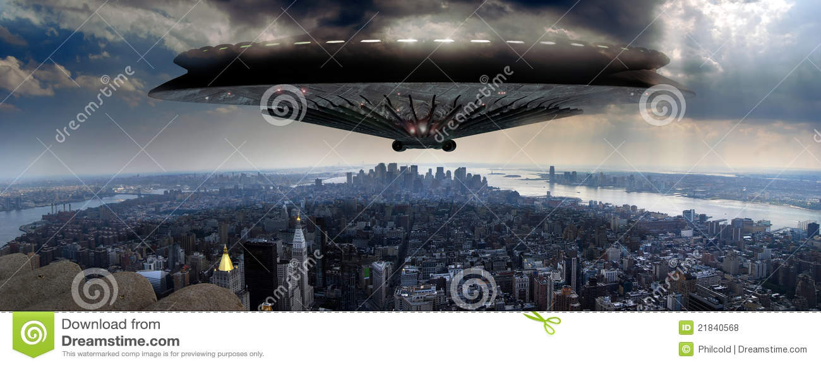 Manhattan над ufo