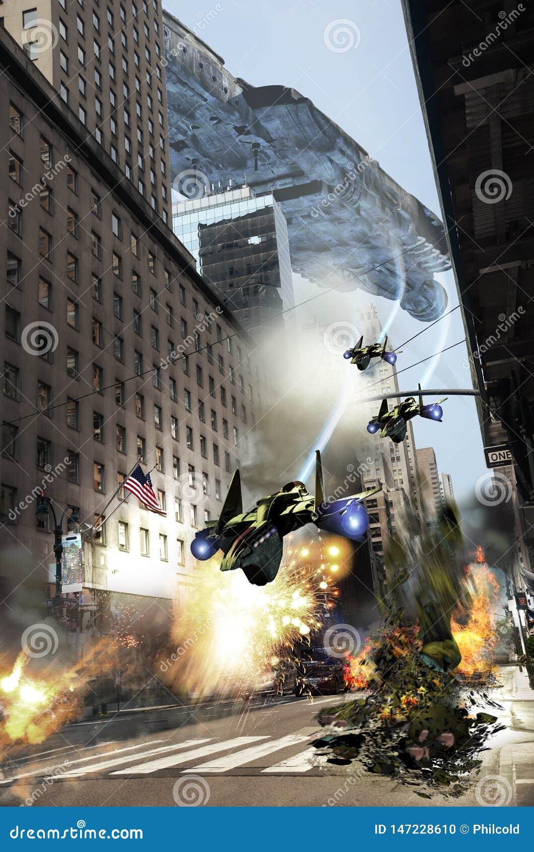 Manhattan bajo ataque