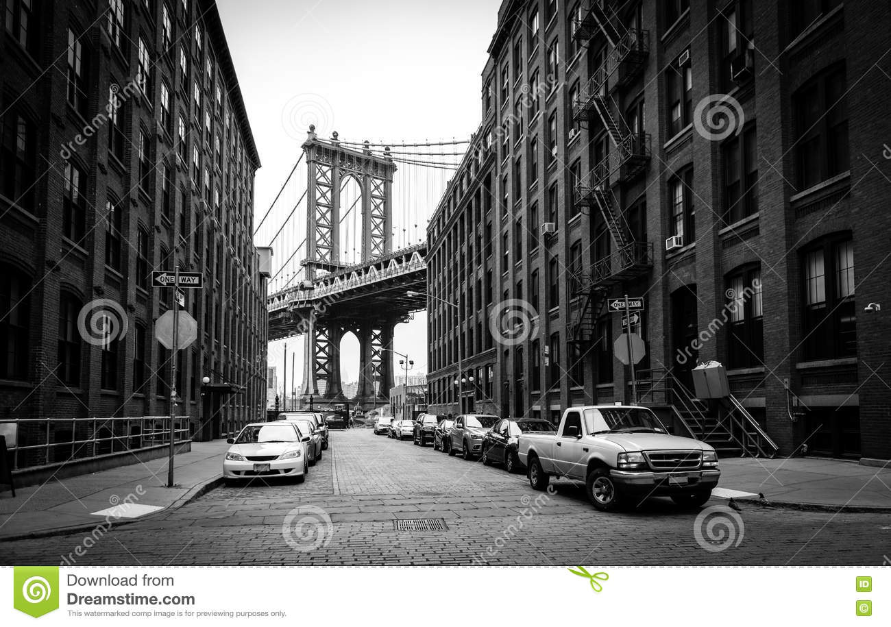 Manhattan Bridge, View From Washington Street In Brooklyn ...