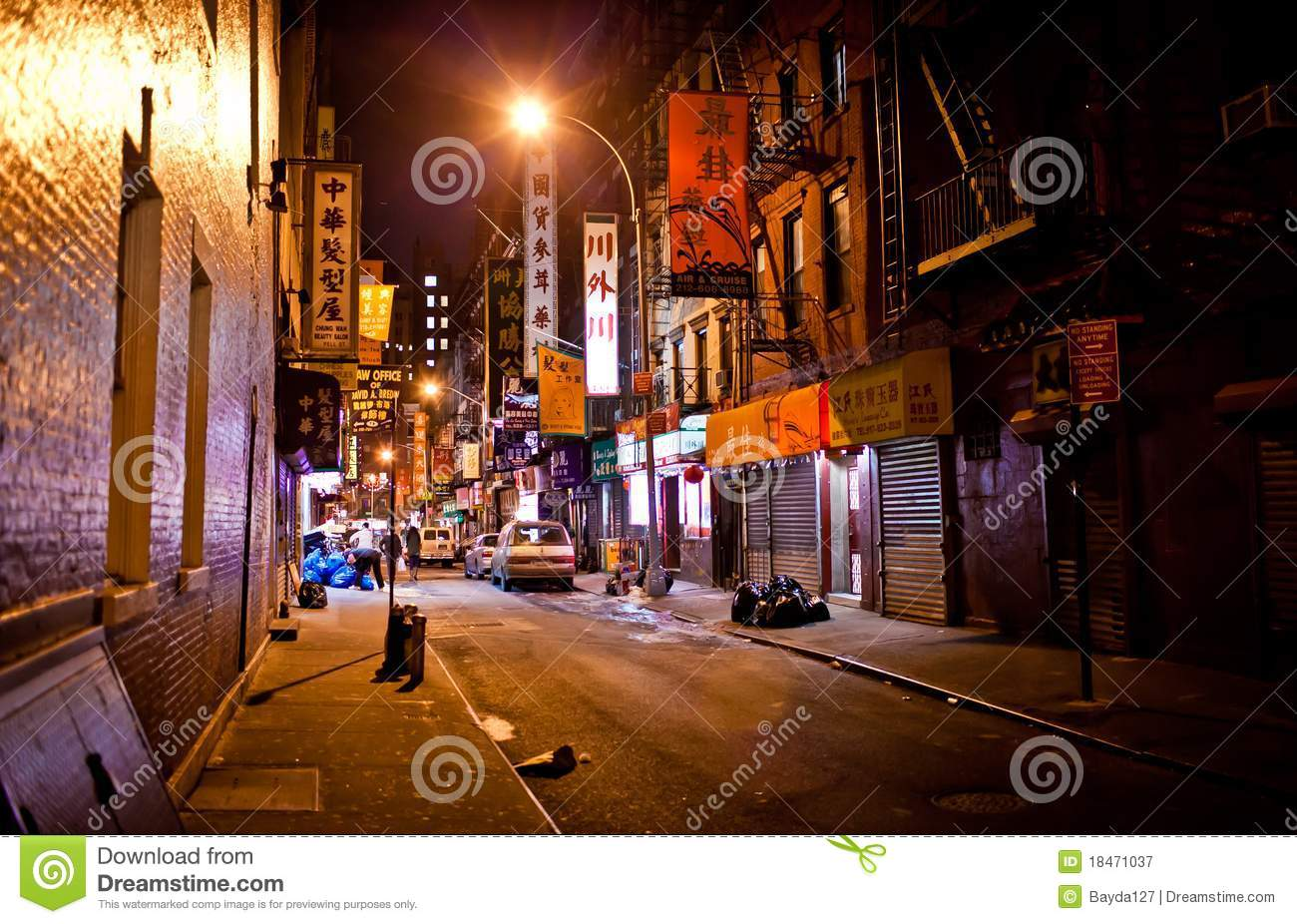 Manhattan Chinatown At Night Editorial Photography Image Of Angle Office 18471037