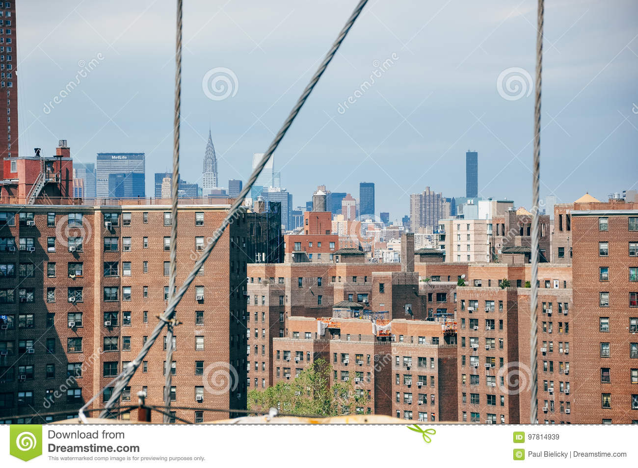 Manhattan city skyline view.