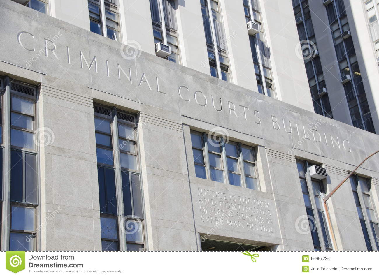 Manhattan Criminal Courts Building Editorial Photo - Image of