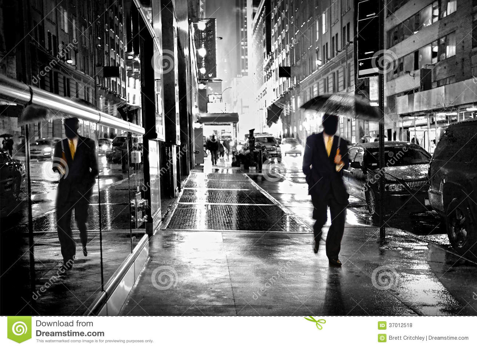 Manhattan gata vid natt